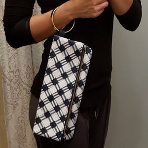 Unique mudpie wristlet/clutch